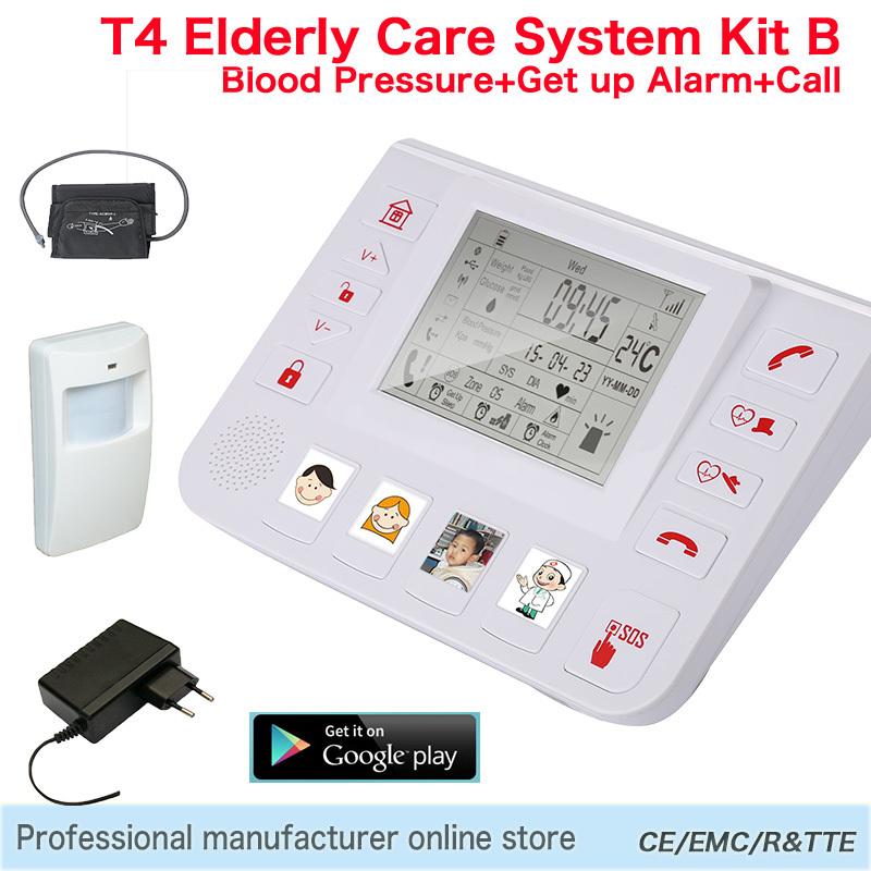 433.92 МГц GSM 3G для пожилых людей, живущих уход Аварийная система домашней обеспеченностью Guarder старший помощник тревоги SOS система поддержки всех детектор