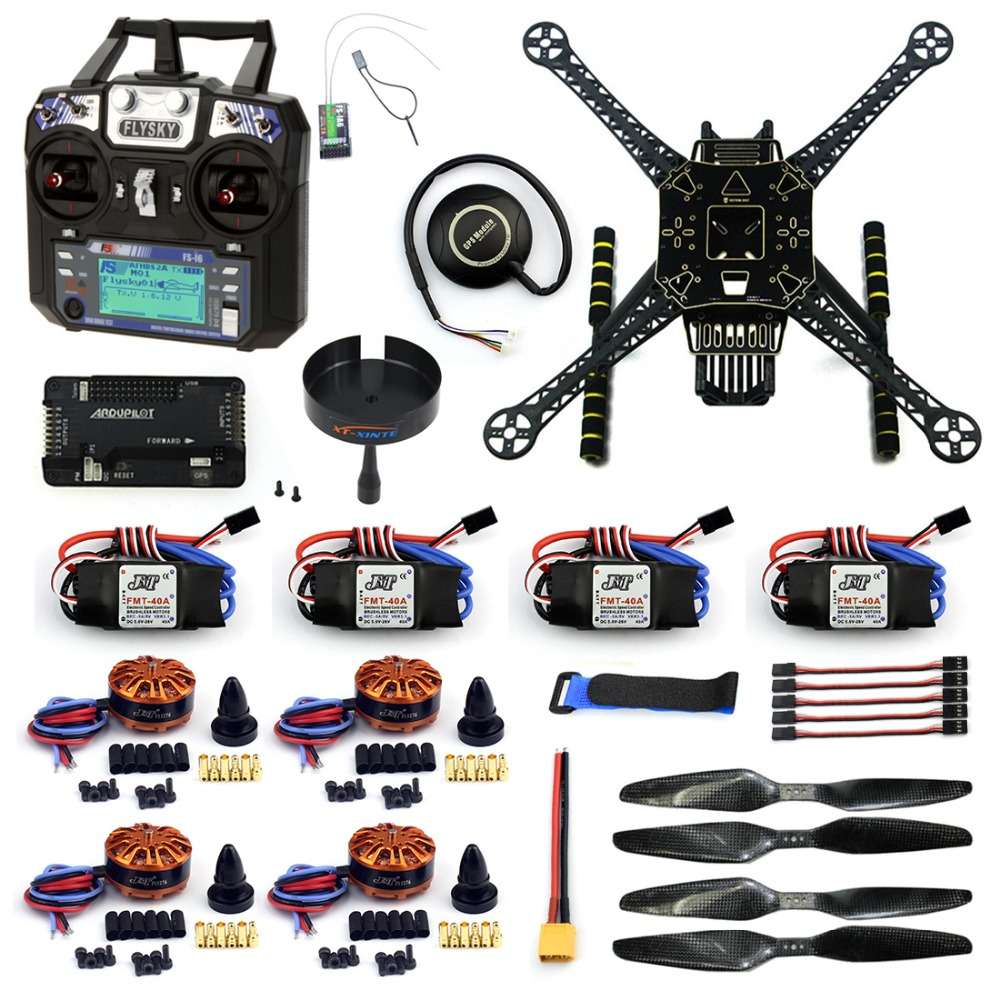DIY Quadcopter RC FPV Drone S600 Frame Full Kit with APM 2.8 No Compass Flysky FS-i6 TX Battery Charger Motor 40A ESC F19457-J