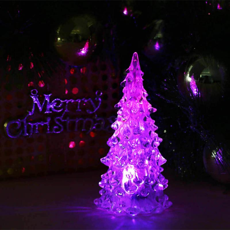 Гаджет  LED Lamp Christmas Light Tree Ice Crystal Shape Colorful Decor Christmas Supplies Gifts Newest None Дом и Сад