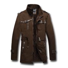 Men Trench Coat New  Winter Medium-Long Slim Fit Snow Warm Casual Jacket Coat Brand  Business Outdoor Cotton Windbreaker SL-E452(China (Mainland))