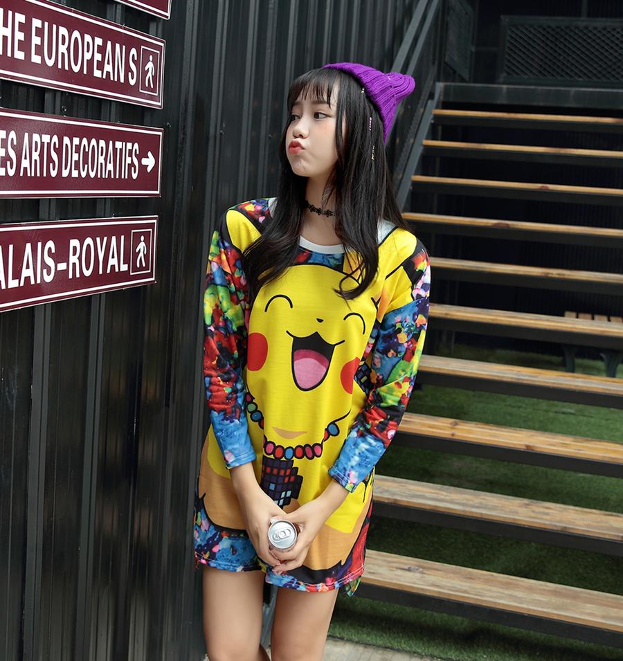 2016 font b Pokemon b font font b go b font Women T Shirt Japanese Anime