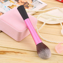 High Quality Synthetic Fiber Cosmetic Powder Blush Foundation Makeup Tapered Brushes(China (Mainland))