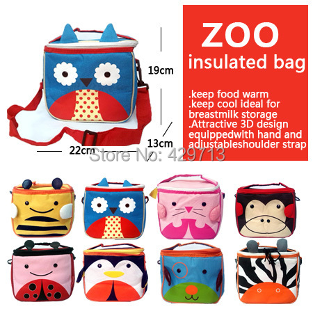 wholesale Insulation bag zoo insulated bag keep food cool warm 3D breastmilk bottle storage animal adjustable shoulder strap()