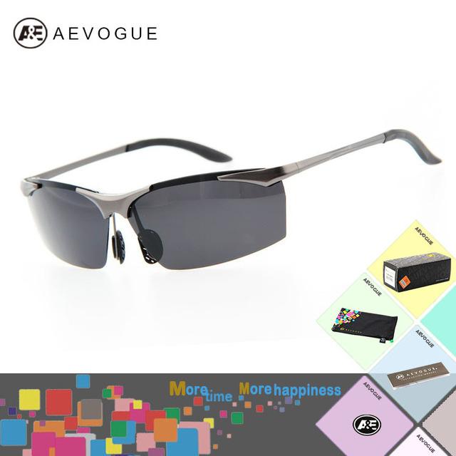 Aevogue с чехол марка спорт поляризованные солнечные очки мужчины Al - м . сплав солнцезащитные очки для рыбалки UV400 AE0153