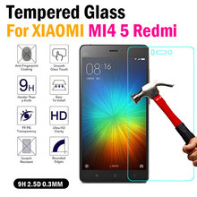 0.3 mm LCD Clear Tempered Glass Screen Protector For Xiaomi Mi3 Mi4 4C 5 Note redmi note 2 3 2S Anti-Explosion anti-Shatter film