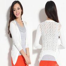 Wholesale Casual Sweatshirt Free Size Knitted Sport Suit Women Lace Sweet Hoodies Coat 250PCS/lot(China (Mainland))