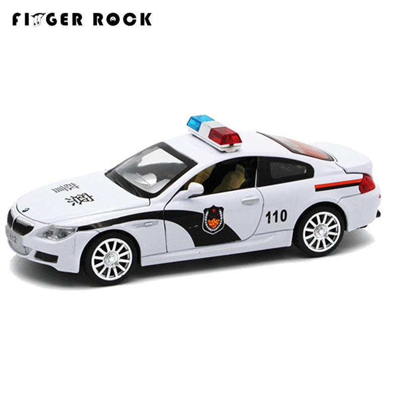 M Series Diecast Metal Car Model 1:32 Police Car with Sound and Light Mini Pull Back Alloy Cars Boy Simulation Auto Toys(China (Mainland))