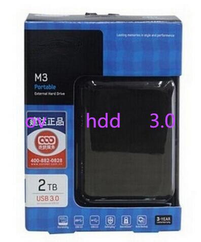 Free shipping Three years of high quality warranty M3 2TB external HDD 1000GB portable hard drive disk USB 3.0 100% original new(China (Mainland))