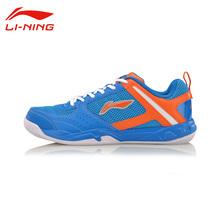 Li-Ning Men's Wear-Resisting Badminton Training Shoes Li Ning Shoes Anti-Slippery Damping Lace-Up Outdoor Sneakers AYTM017(China (Mainland))