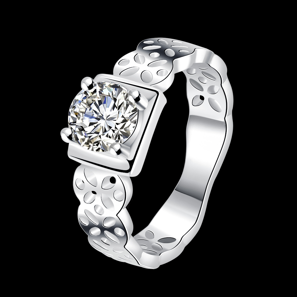 Factory Price Female Silver Plated Square Rings Lots Vintage Jewelry Watchs Style Finger Rings Promotion Top Quality Bague Femme(China (Mainland))