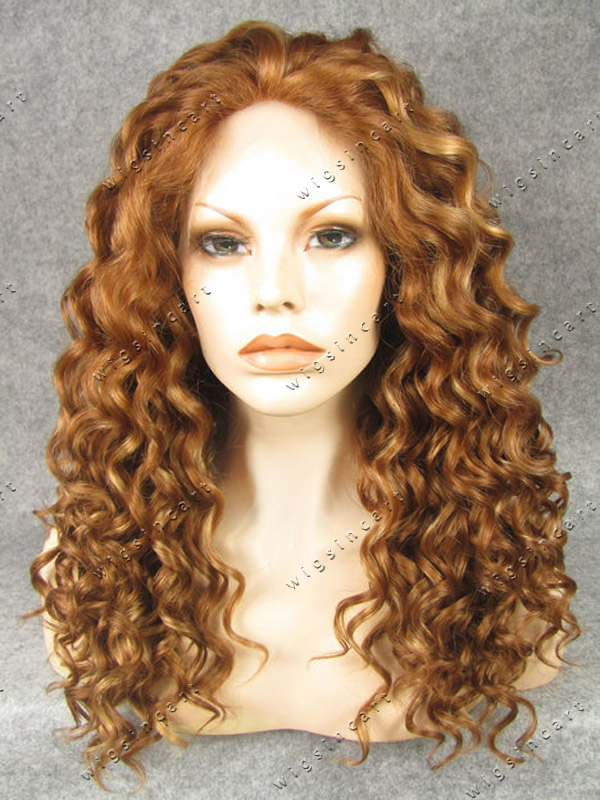 Beauty Kinky curly Synthetic wigs Medium length haircuts lace front ...