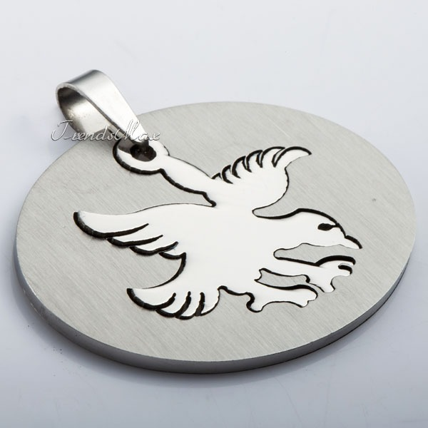 Trendsmax Spider Dog Tribal Design Eagle Dog Batman Tag Stainless Steel Pendant Gift Wholesale Jewelry Free Shipping KPM21(Hong Kong)