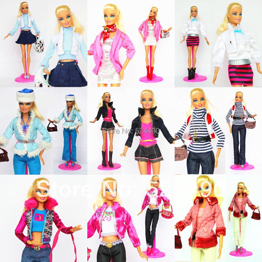 Buy 5 Sets Outfit Unique Design Handmade Doll Dresses Clothing Suit Coat Pants