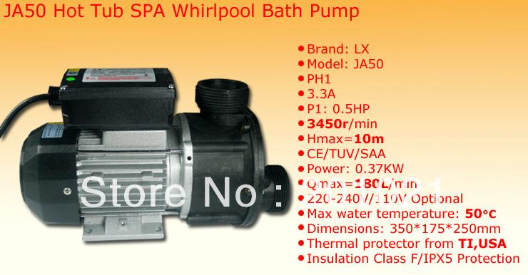 Lowest Price ! Whirlpool ringlusse Pump LX JA50 Hiina Ilu teenima Mullivann Spas 1/2 HP2900rpm(Hong Kong)