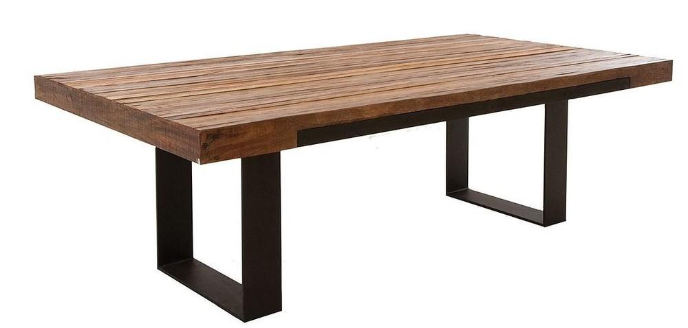 Achetez en gros forg table en fer en ligne des for Table de salle a manger bois et fer