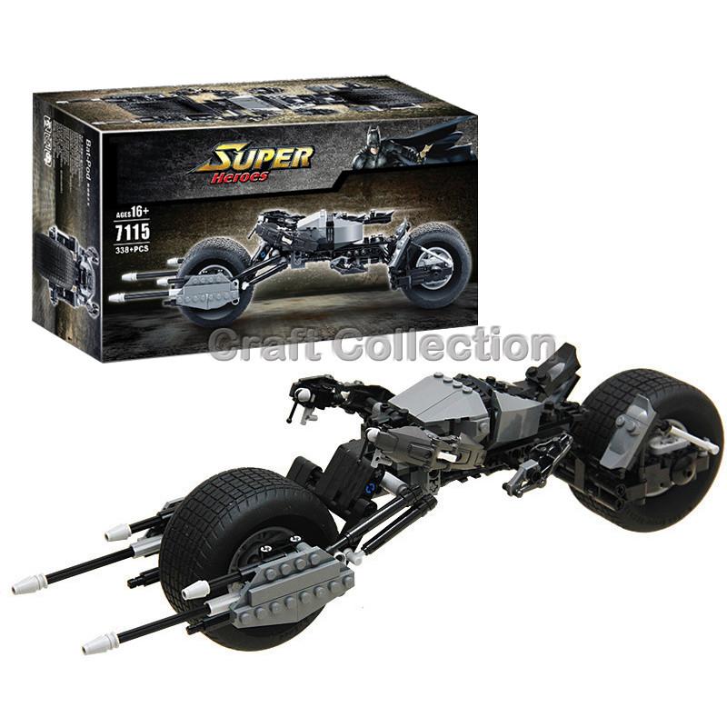 Decool 7115 Super Heroes Batman Bat-Pod Block Brick Toy Boy Game DC Motorcycle Gift Compatible with Lepin Bela LEGOelids 5004590