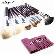 Professional Soft Nature Hair 12pcs Makeup Brushes Set High Quality Cosmetic Tools Kit Free Shipping