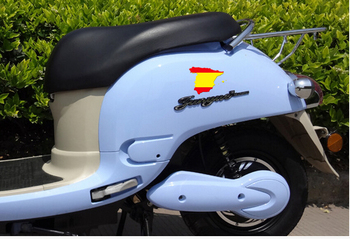 Spanish flag motorcycles sticker , Creative spain map shape vinilos decal stickers for cars , bicycles, refrigerators decor