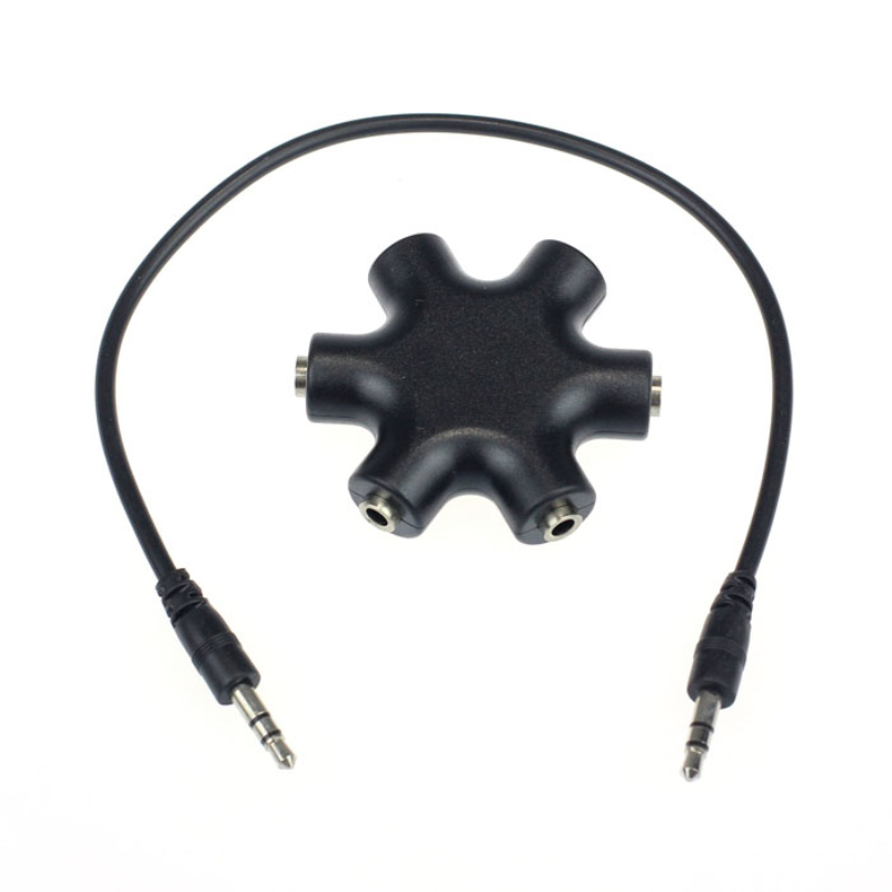 Hot selling 3.5mm Headphone Earphone Audio Splitter 1 Male to 2 3 4 5 Female Cable 1pc(China (Mainland))