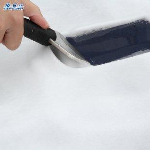 Скребок из нержавеющей стали и мягкий пластик снег лопатка для