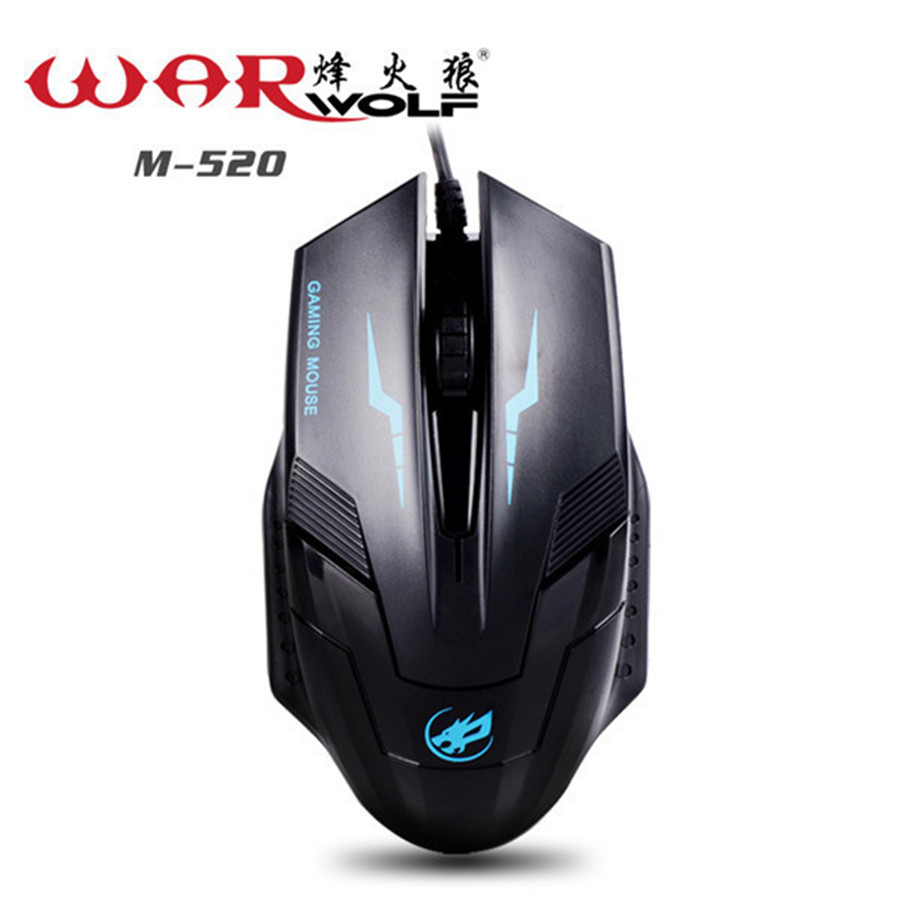gaming Mouse gamers USB PS/2 1000DPI Wired mause 3 buttons Mice for Computer PC mouse Laptop Desktop Warwolf M-520 deathadder(China (Mainland))