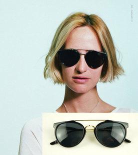 Fashion popular sunglasses metal double beam star k52105 15