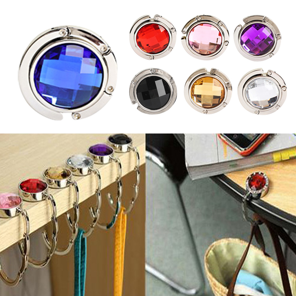 1 Piece Folded Handbag Bag Hook Hanger Holder Alloy Fashion Crystal Rhinestone HB88(China (Mainland))