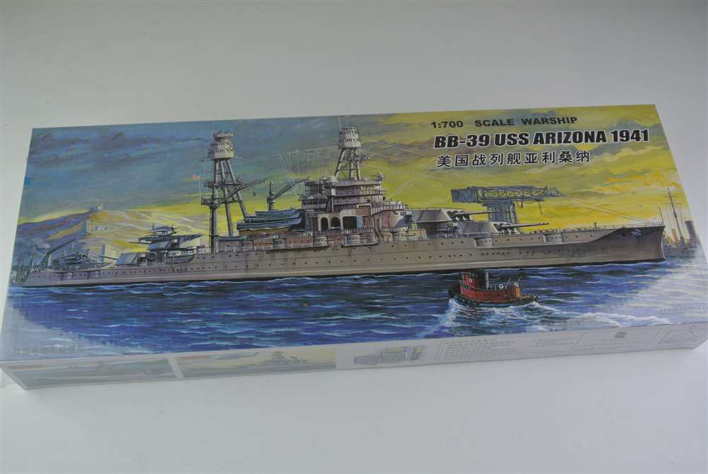 1:700 Scale Warship World War II BB-39 USS Arizona Battleship 1941 Plastic Assembly Model Electric Toy XC80918