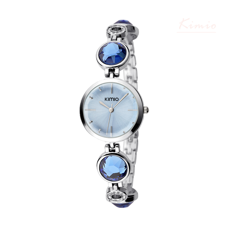 KIMIO Brand Simiple Fashion Quartz Watches For Women Waterproof Gem Hollow Bracelet Ladies Watches relojes mujer marca de lujo(China (Mainland))