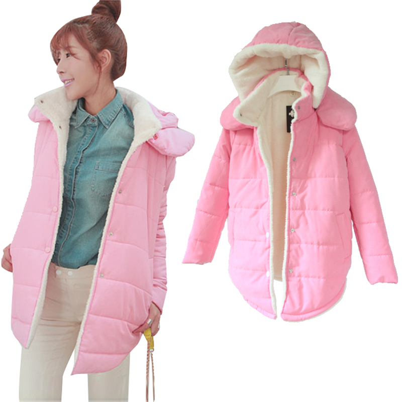New Womens Winter Jacket Women 2015 Cotton-padded Womens Jackets And Coats Hooded Candy Color Parka Long Coat Female Plus SizeОдежда и ак�е��уары<br><br><br>Aliexpress