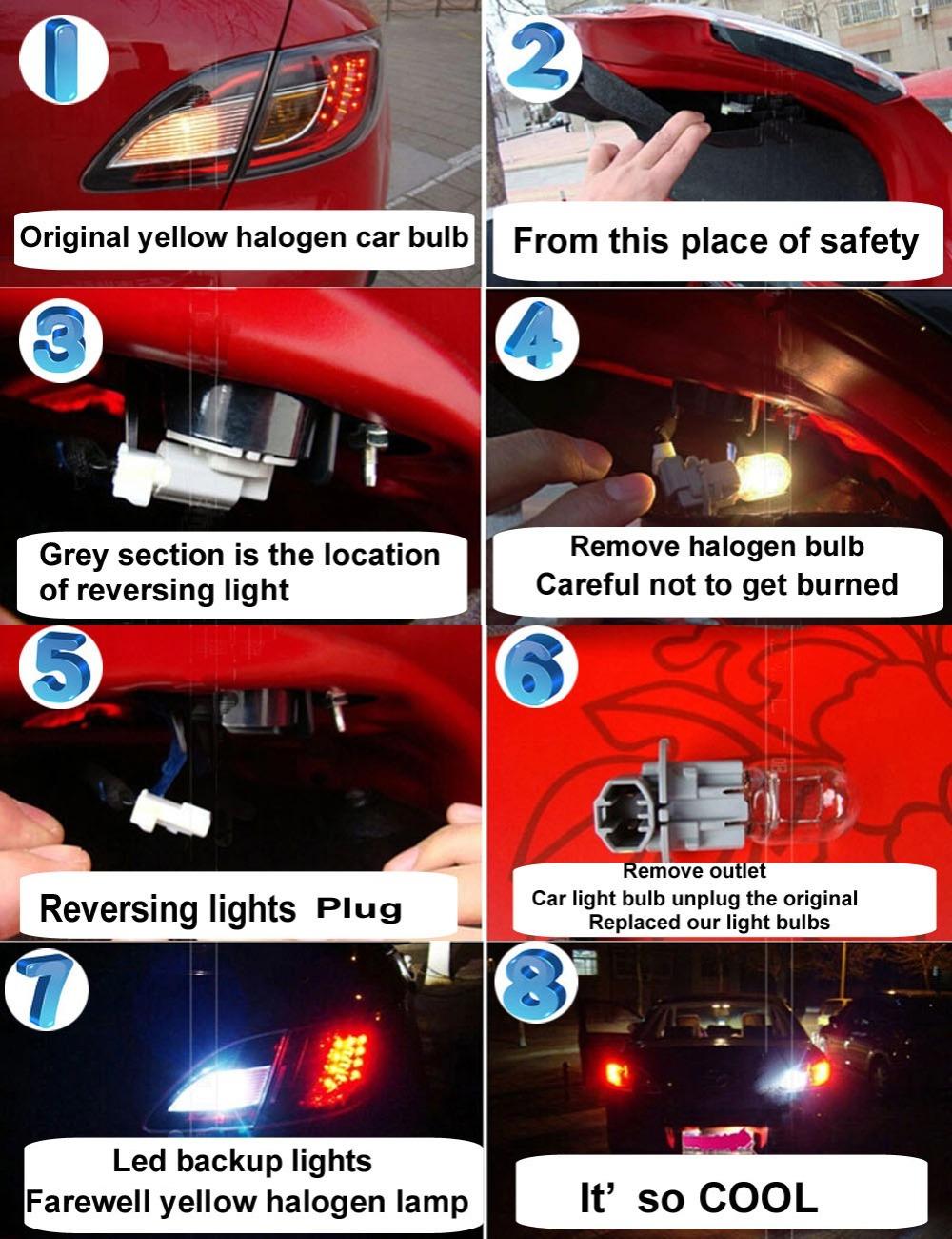 4x Car Marker Lamps T11 Ba9s T4w LED Bulb 9 LEDS Tower 5050 led 12 VDC