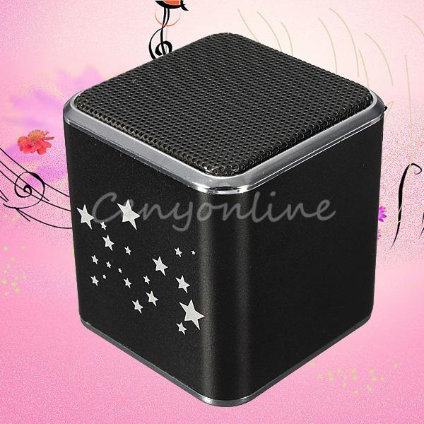 MD07U Black Mini Portable USB FM Music Sound Box Player Digital Speaker Amplifier Reader Micro For SD PC MP3 4 TF Card(China (Mainland))