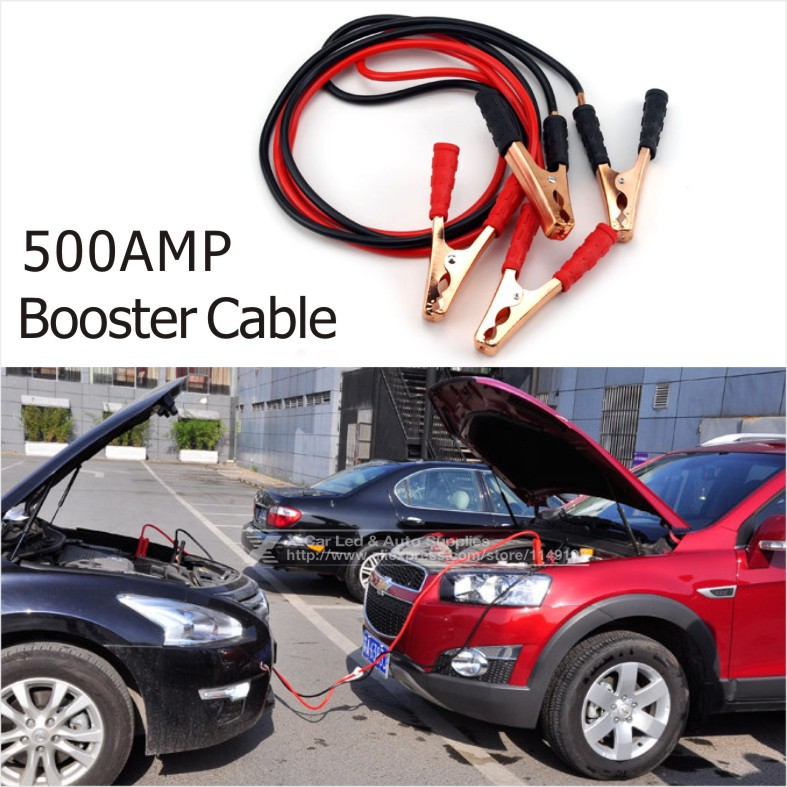 Car Battery Clip Car Emergency Battery Power Line Booster Cable 2M Car Battery Cable Heavy Duty Booster Cables 500 Amp(China (Mainland))
