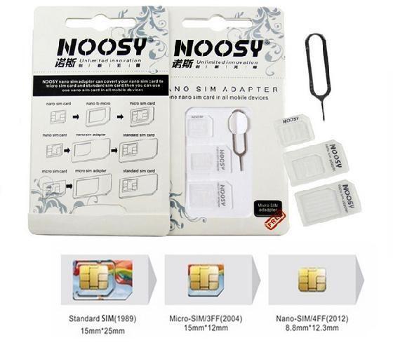 Nano SIM Card to Micro Full Standard SIM Card Tray Adapter Holder for iPhone NEW(China (Mainland))