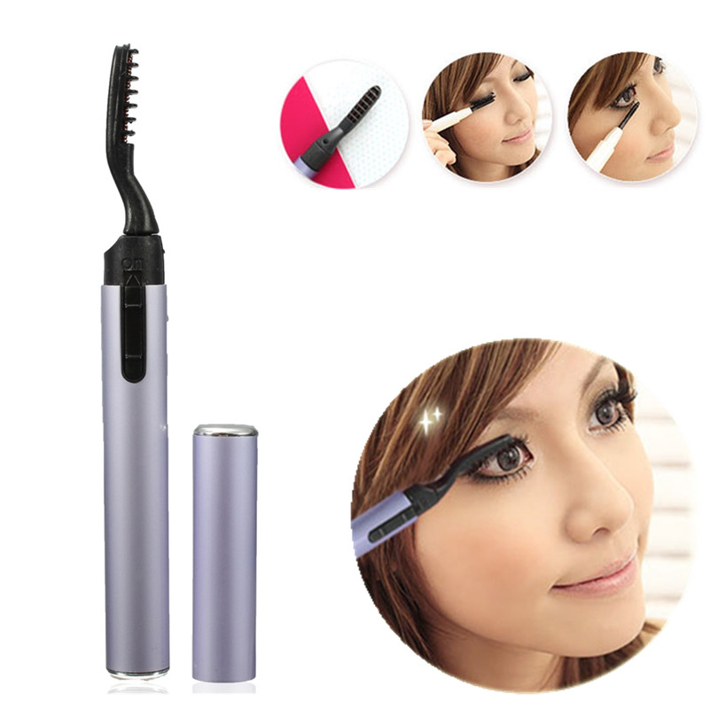 1PCS Portable Electric Eyelash Curler Pen Style Heated Long Lasting Makeup Beauty Tools Not Included Battery Free Shipping(China (Mainland))