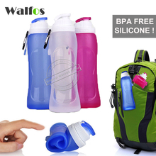 WALFOS 500ML Creative Collapsible Foldable Silicone drink Sport Water Bottle cup Camping Travel my plastic bicycle bottle(China (Mainland))