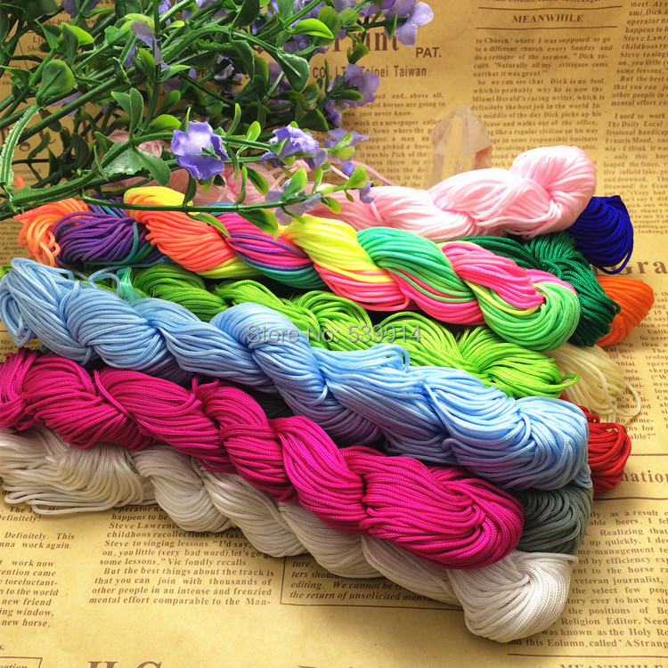 25Metre Nylon Knot Cord Braided Thread 1mm Diy Bracelet Rope Craft Material For Handmade String Necessaire Acessorios Cordao(China (Mainland))