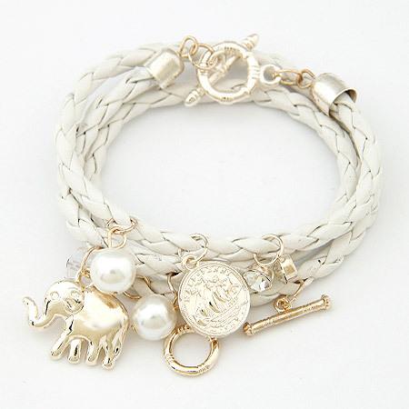 Bracelets for Women PU Leather Charm Bracelets & Bangles Men Jewelry Bijoux Elephant Pulseira Feminina Pulsera Mujer Femme(China (Mainland))
