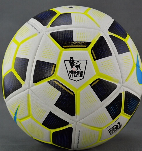 Top sale 15-16 PREMIER LEAGUE Particles Soccer ball top high quality seamless TPU size 5 football Free Shipping(China (Mainland))
