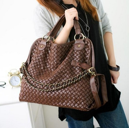 Bolsa De Ombro Hobo : Quality chain woven bag shoulder messenger