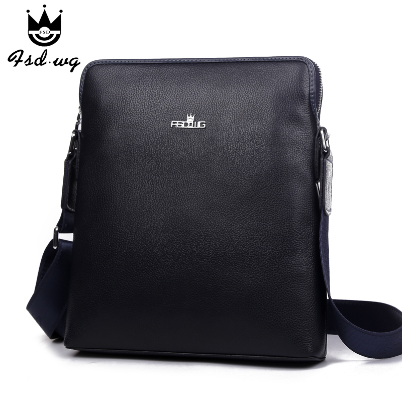 Hot selling new products! 2014 male shoulder bags genuine leather mini Men's messenger casual small man bag Cheap brand