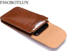 Dual Mobile Phone Leather Bag Sleeve Hanging Waist Pouch Case For Innos D6000,For HomTom HT17,HT27,HT16 Pro,HT20,HT17 Pro,HT7