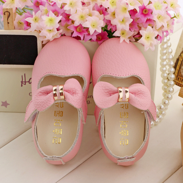 Aliexpress.com : Buy Baby Girls Real Leather First Walker Shoes ...