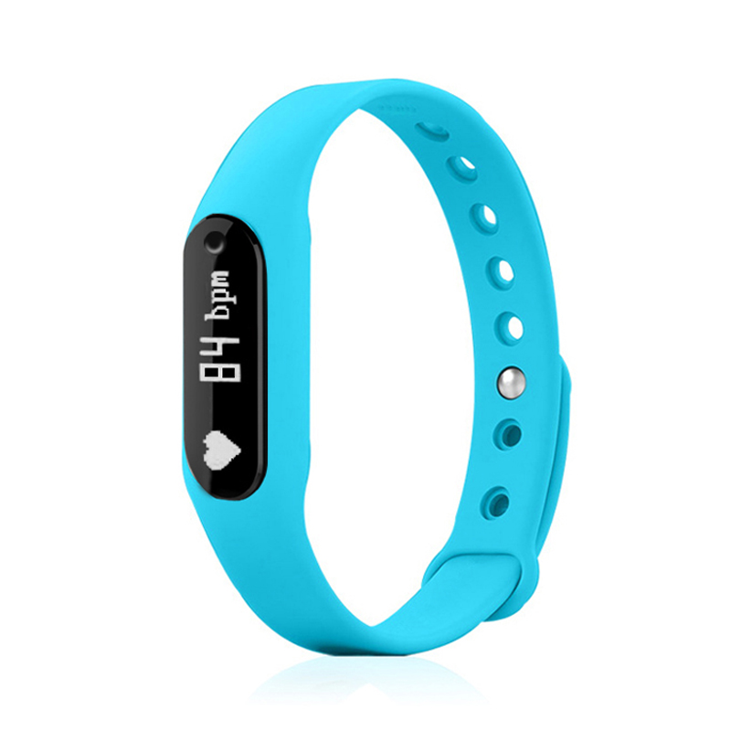 Bluetooth Heart Rate Monitor Wristband OLED C6 Smart Bracelet Sports Tracker for HTC Mobile Phone pk Xiaomi Mi Band 2 Fit Band(China (Mainland))