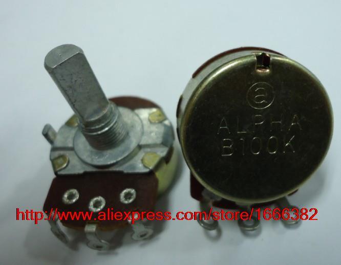 2pcs//Electric guitar game potentiometer single linked B100K 20F RV24AF-10(China (Mainland))