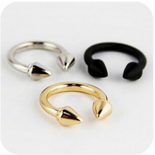 New Style European and American female punk rivet arrow retro exaggerated influx of people finger ring For Women C7412(China (Mainland))