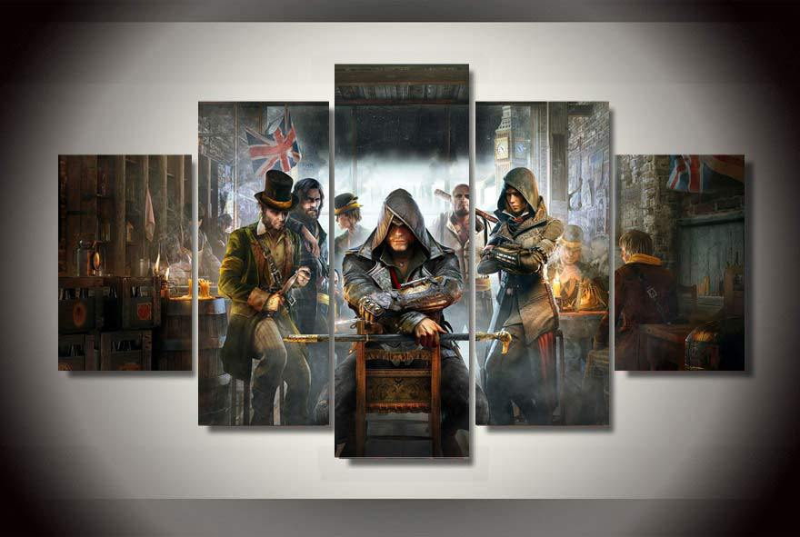 thomas kinkade oil painting assassins creed syndicate Painting on canvas room decoration print poster picture canvas wall framed(China (Mainland))