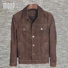 Brown genuine leather coats vintage cowboy style pigskin jacket real boar leather jackets manteau homme veste cuir homme LT305(China (Mainland))