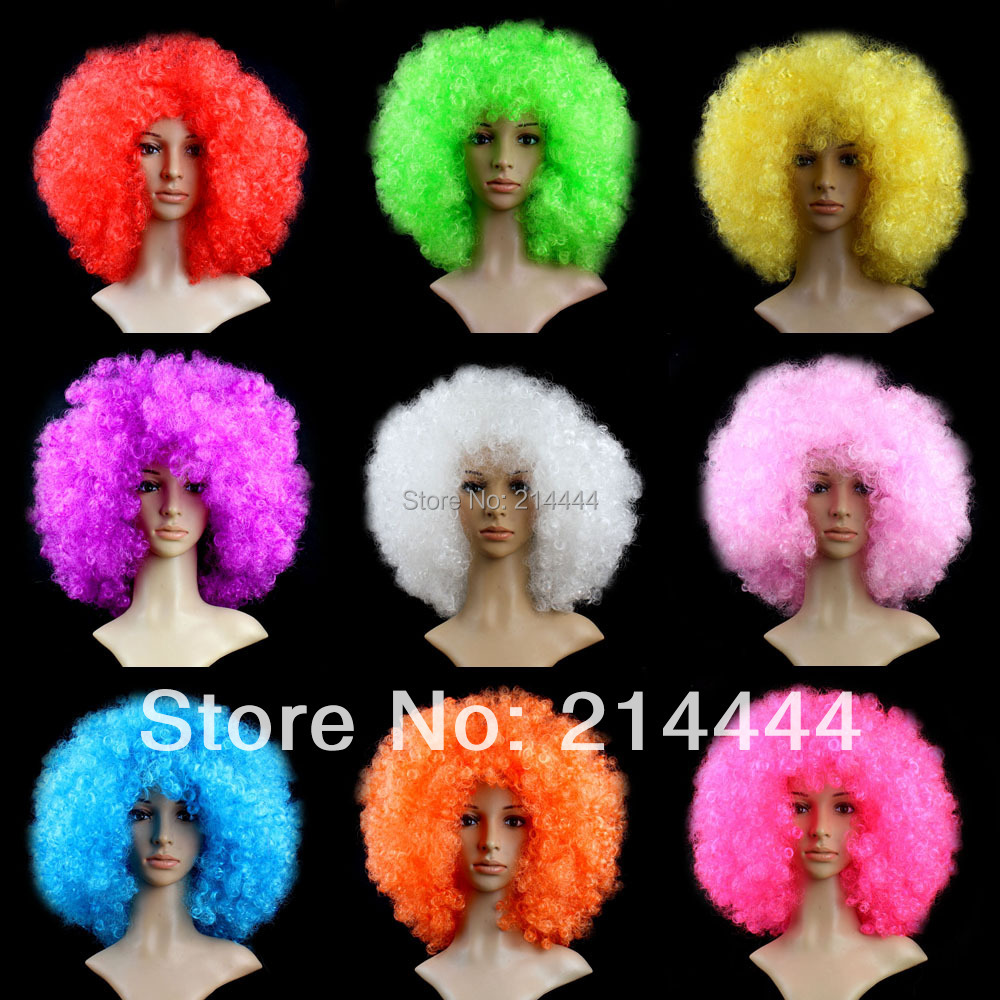 2015 Short Peruk Wigs Hot Sale Perucas Cosplay Wig Perruque Freeshipping Oversized Multicolour Afro Halloween Hair Accessory(China (Mainland))