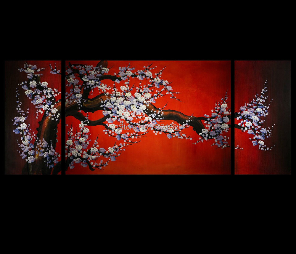 Japanese Cherry Blossom Wall Art Cherry Blossom Art Wall